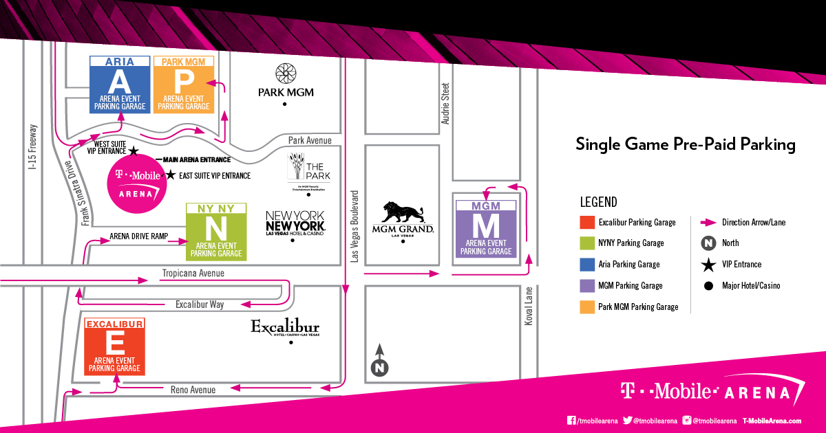 Figure 6.   (Before)  Current map of the T-Mobile Arena, where the iHeartRadio Music Festival takes place.
