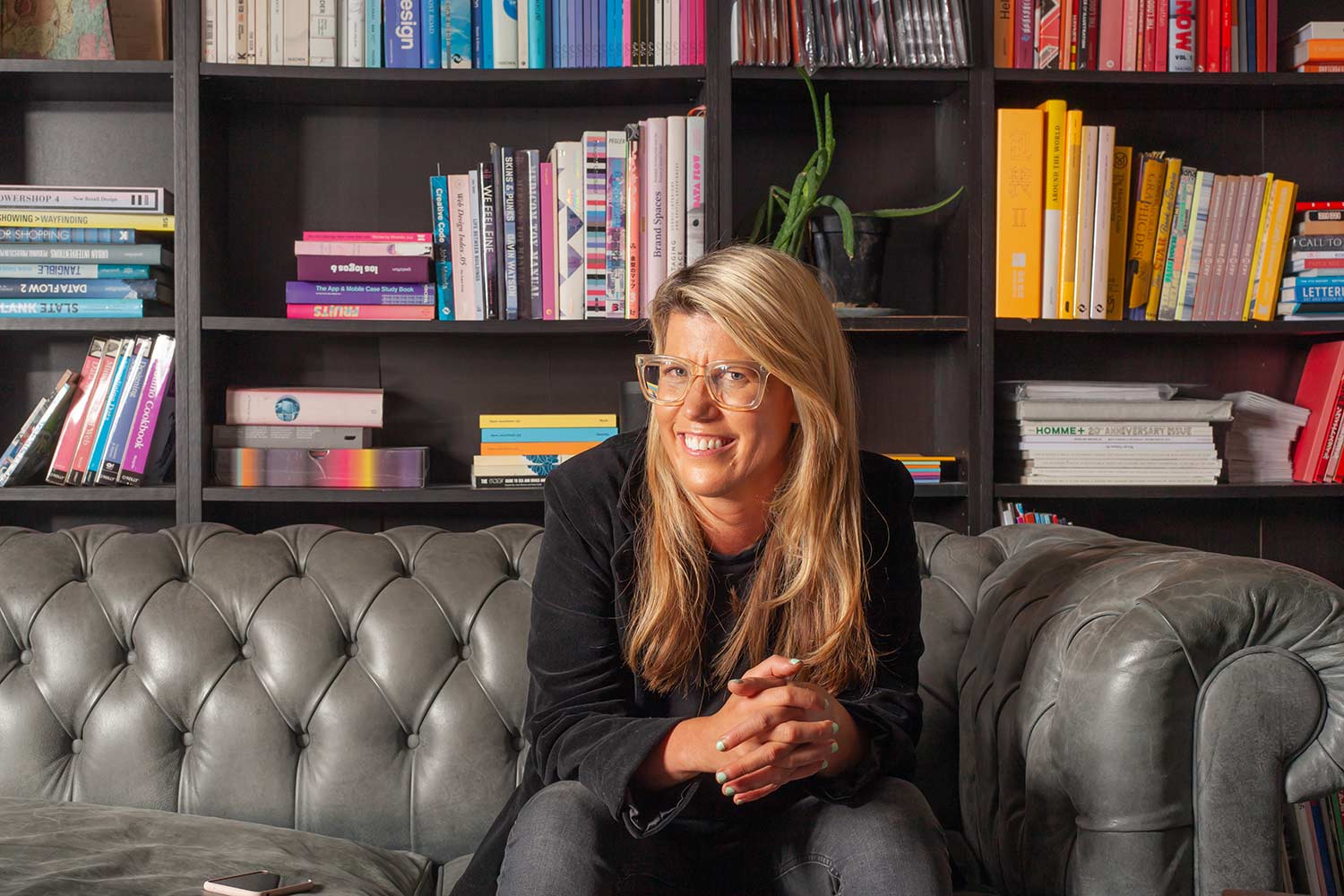 Pip Jamieson at The Dots office. All photos by me.