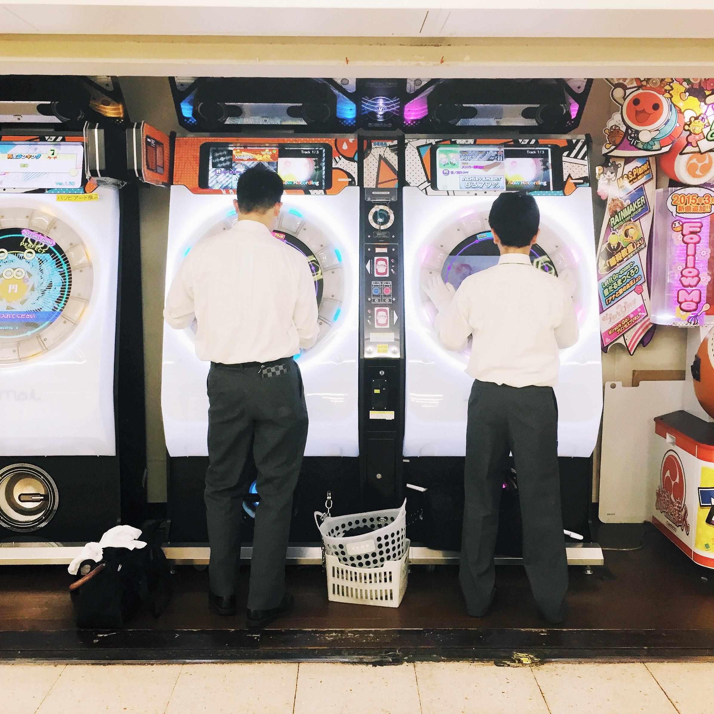 Washing machine (?) Game at Taito