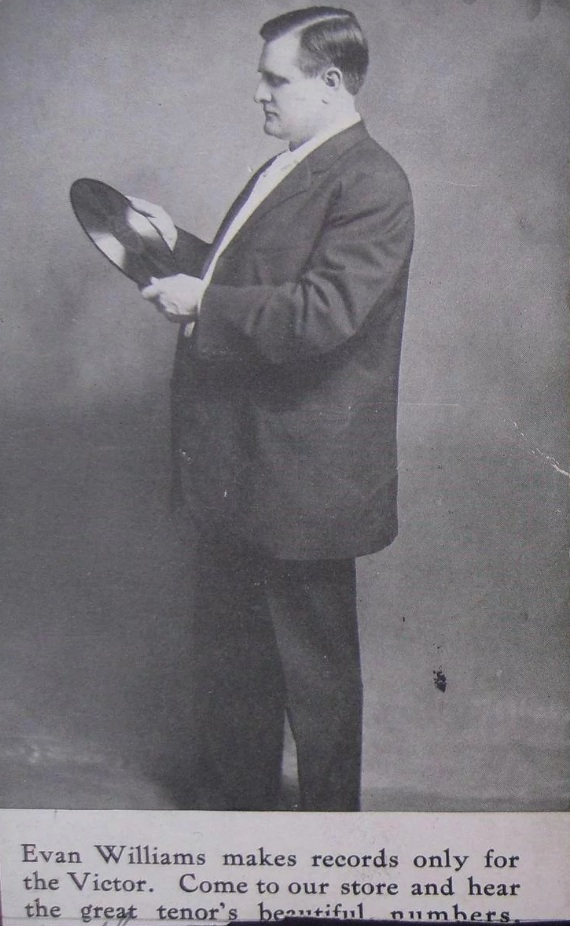 Williams in a Victor Records advertisement
