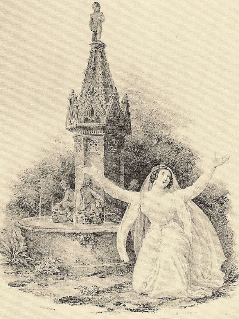 Henriette Méric-Lalande as Alaide, La Straniera, Teatro alla Scala, Milano, 1829