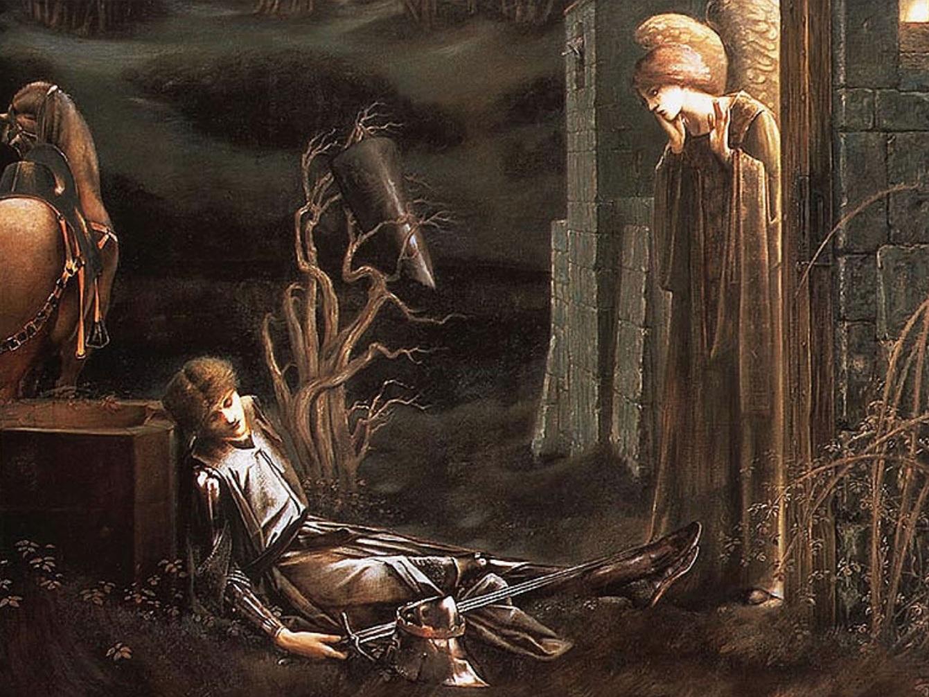 Edward Burne-Jones: Lancelot in the Chapel of the Holy Grail, 1896. Southampton City Art Gallery.
