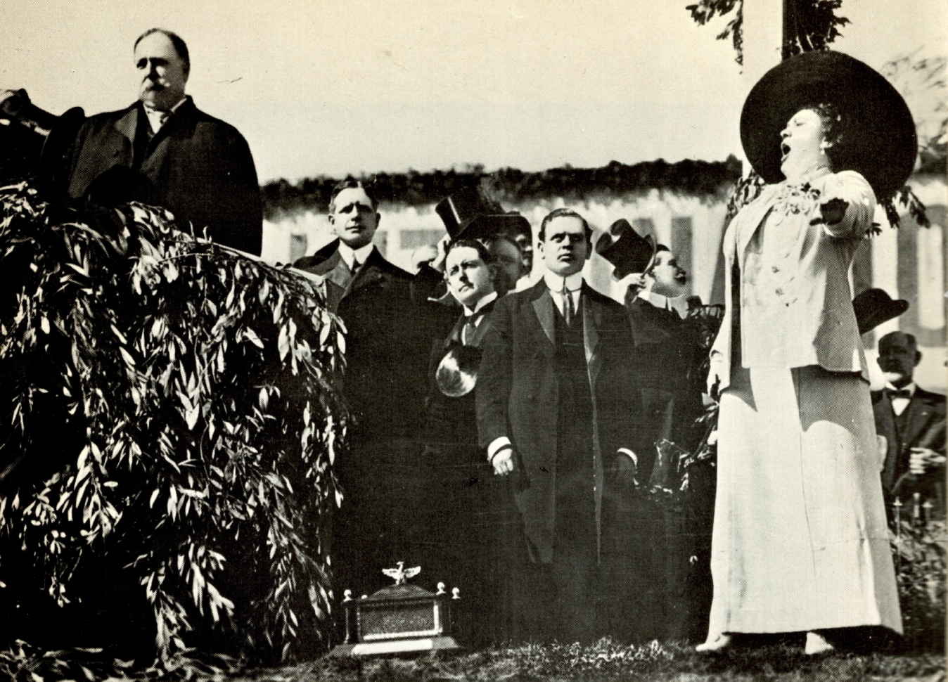 Nordica with President Taft, Groundbreaking ceremony for Panama-Pacific Exposition, San Francisco 1911