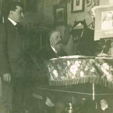 Corrado Pavesi Negri giving a lesson in Piacenza