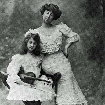 Annie Vivanti with daughter Vivien Chartres