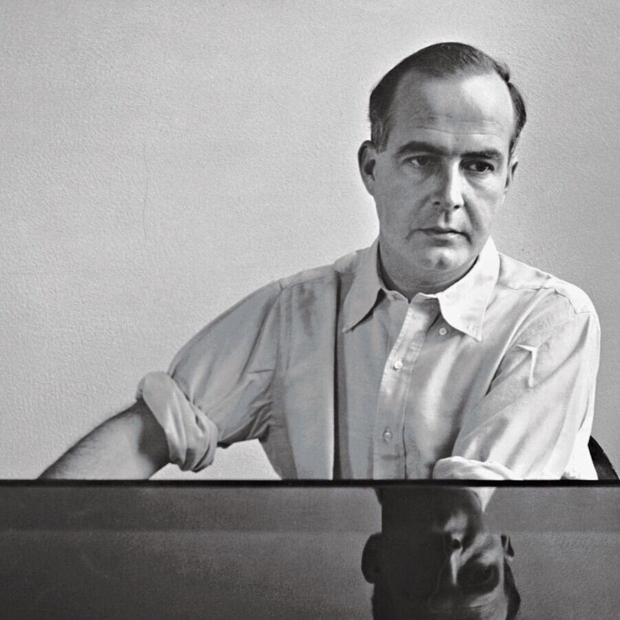 Samuel Barber at the piano, c. 1940