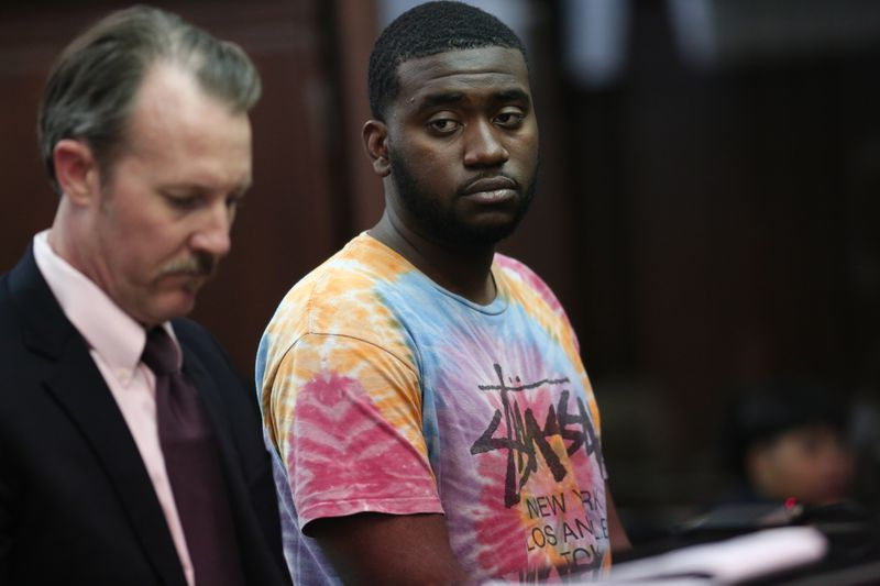 Tyquan Bailey during an arraignment after a March 2018 stabbing attack. (Alec Tabak/for New York Daily News)