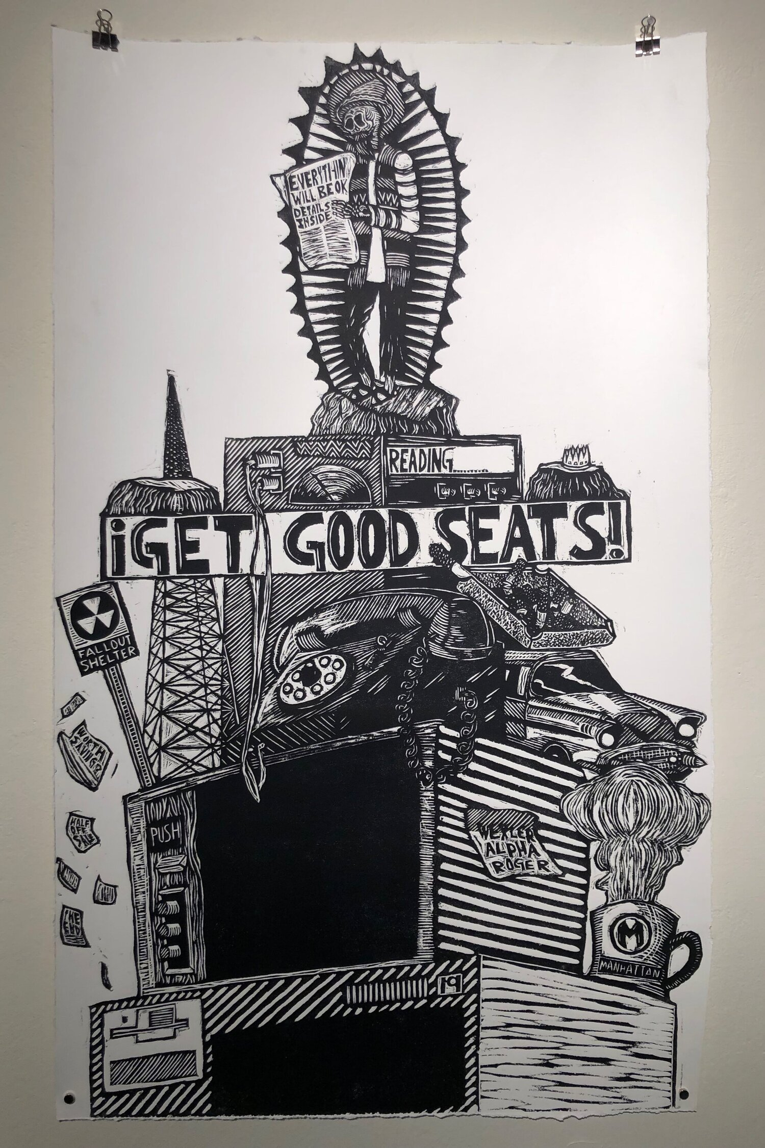 Investing - 20x34Printmaking/Woodcut2019