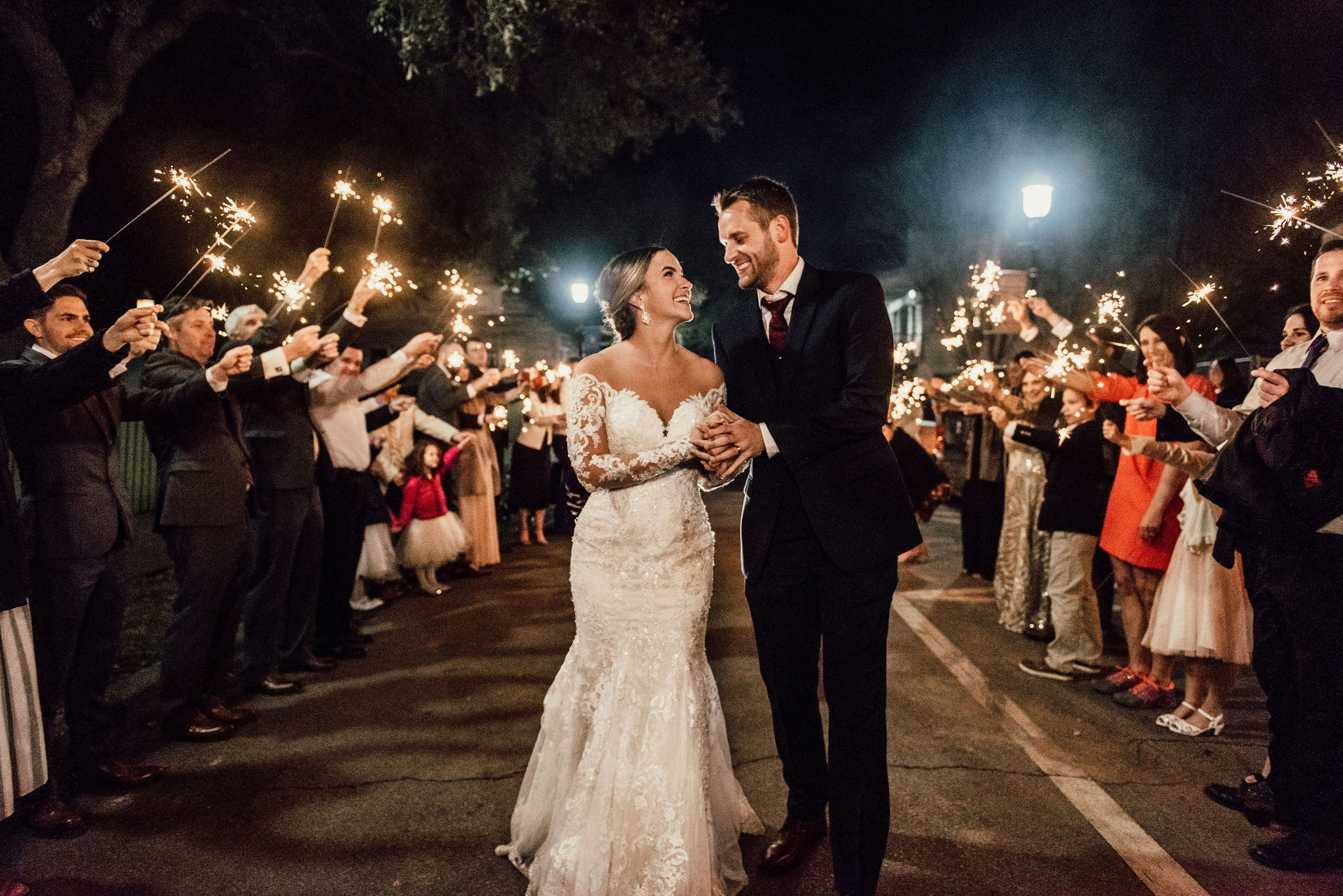 pensacola florida wedding sparkler send off.jpg