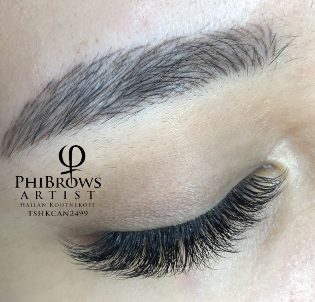 Healed brow with new lash set
