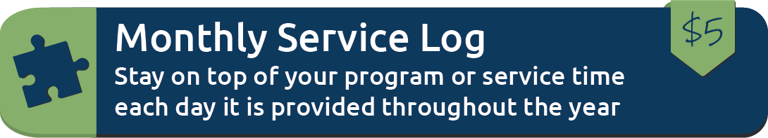 Monthly Service Log