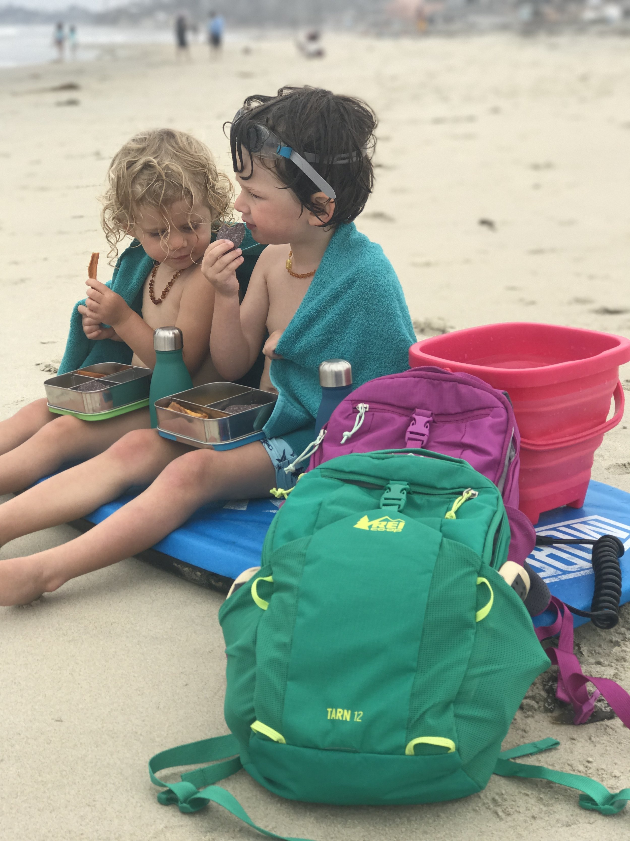Boobie Boarding, Snacks, and Backpacks