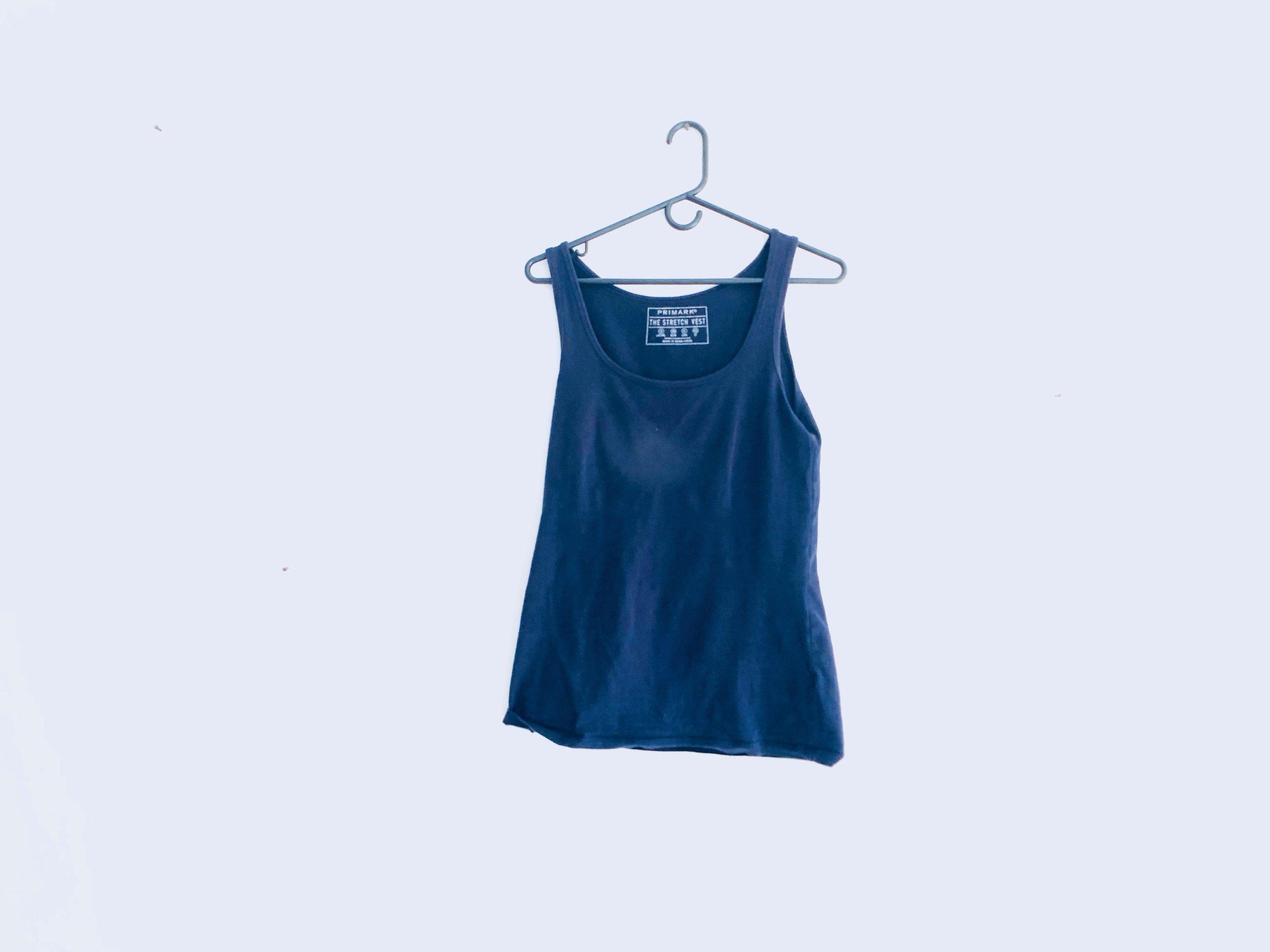 Navy Blue Organic-Cotton Tank