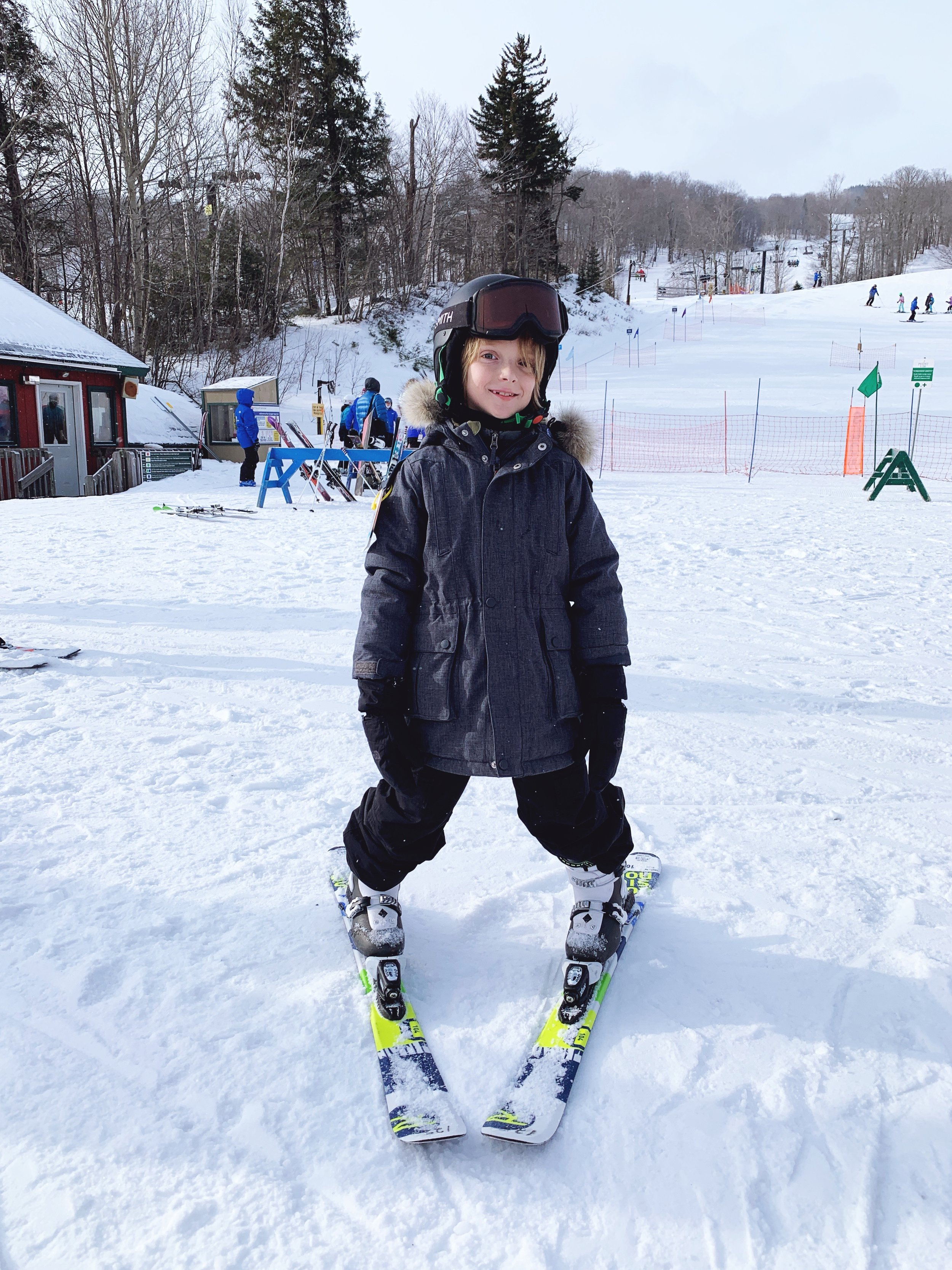 Hudson getting ready to hit the slopes.
