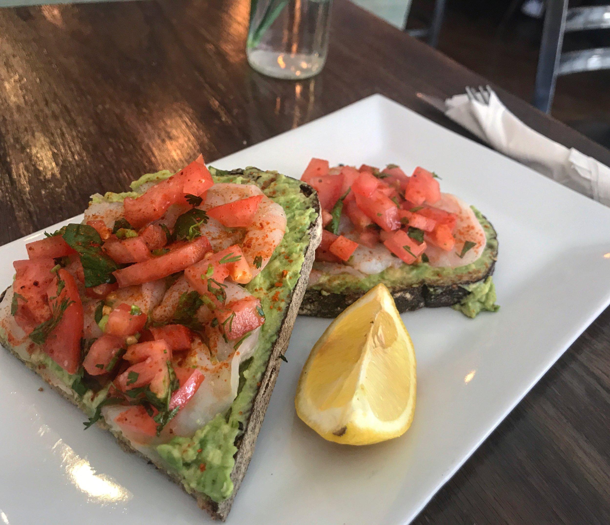 Shrimp Avocado Toast