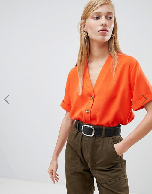 New Look- Button Through Boxy Shirt