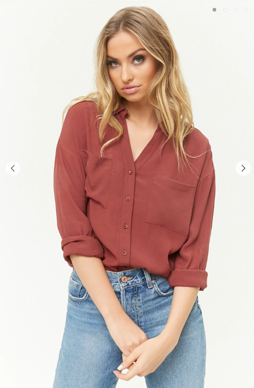 Forever21- Textured Curved Hem Shirt