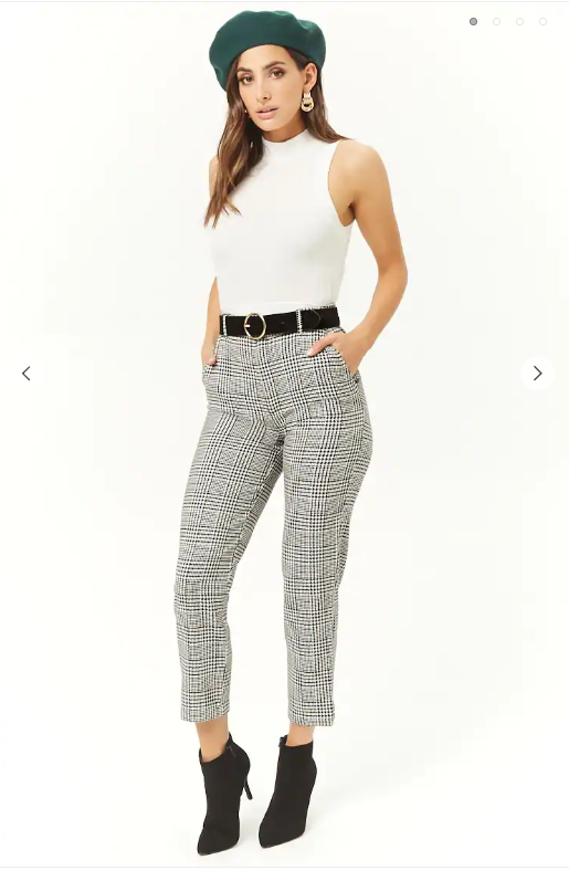 Forever21- Glen Plaid Ankle Pants