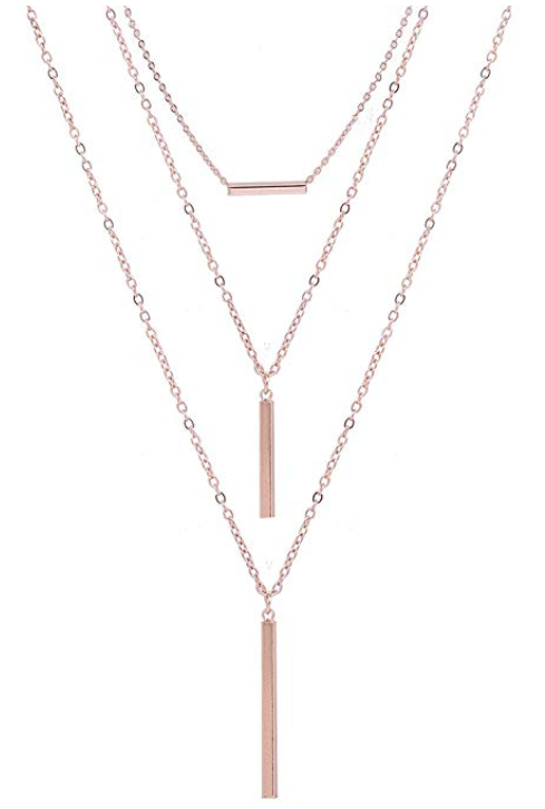 Amazon Alexy- Multilayer Bar Pendant Necklace