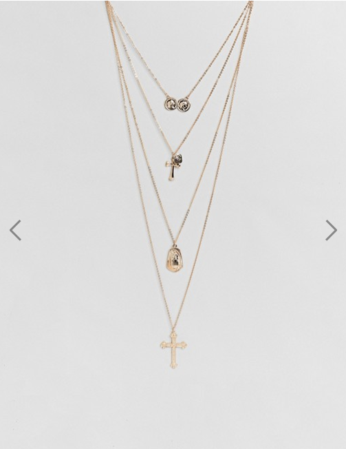 Asos New Look- Coin and Cross Layered Pendant