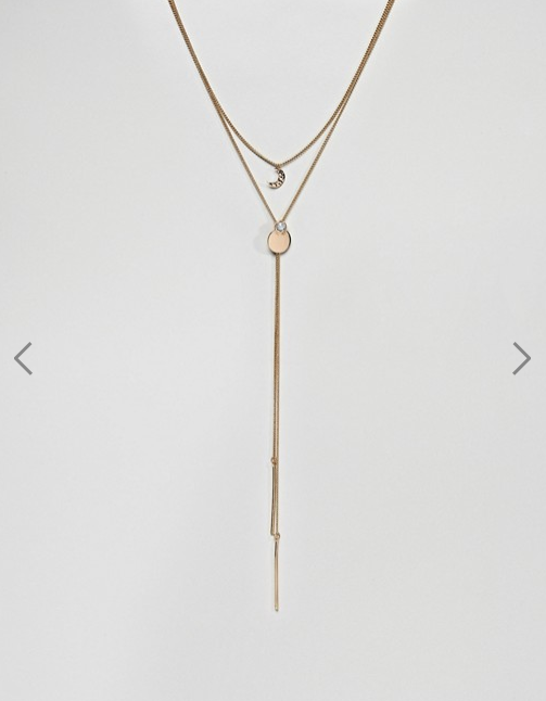 Asos Liars & Lovers- Gold Layering Multirow Moon Pendant