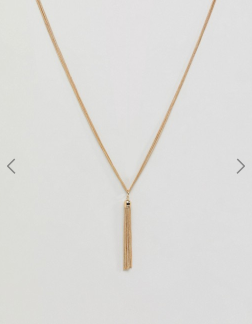 ASOS- Metal Tassel Long Pendant Necklace