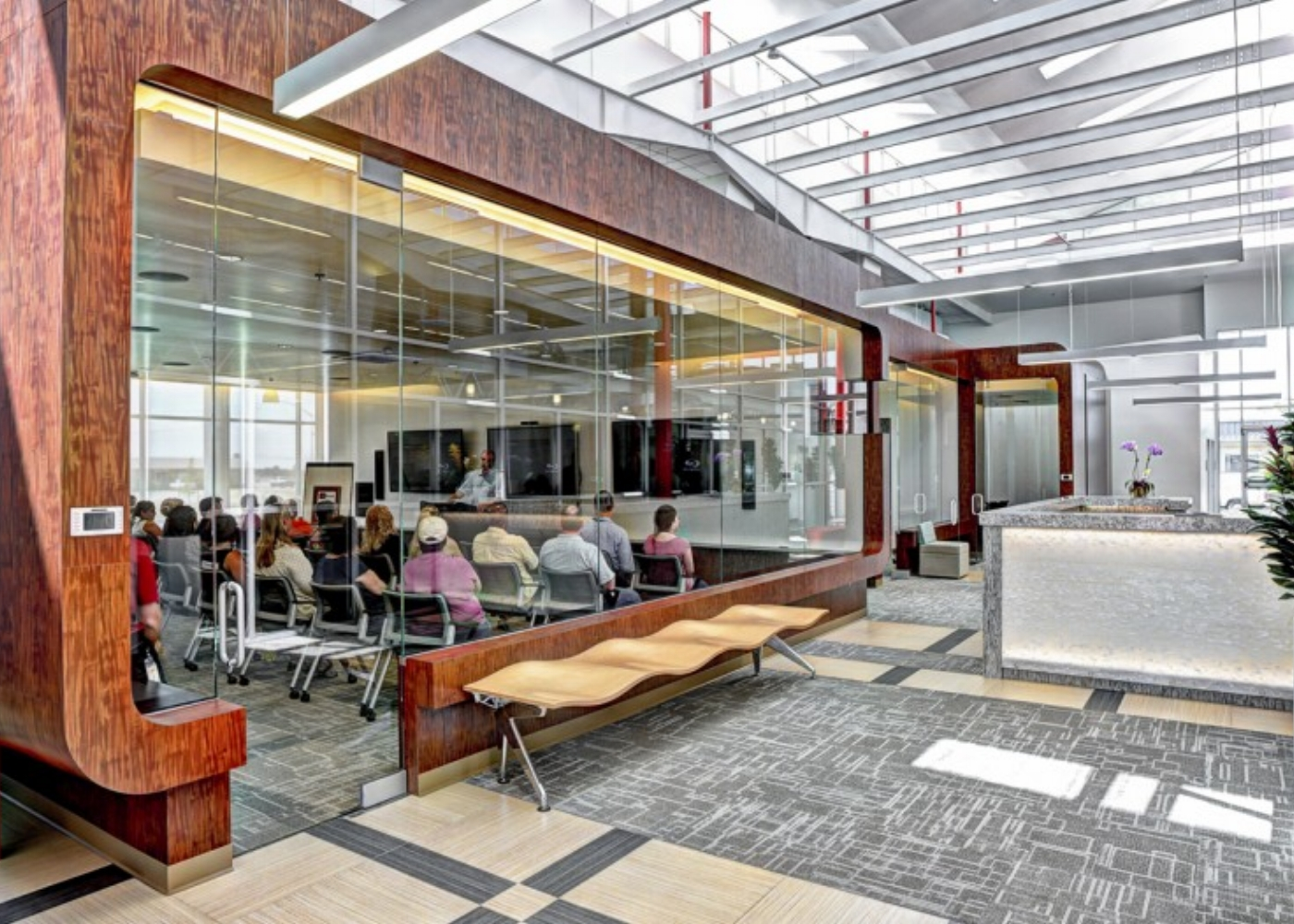 Interactive meeting space - Tri Counties Bank Operations Center in Chico, CA
