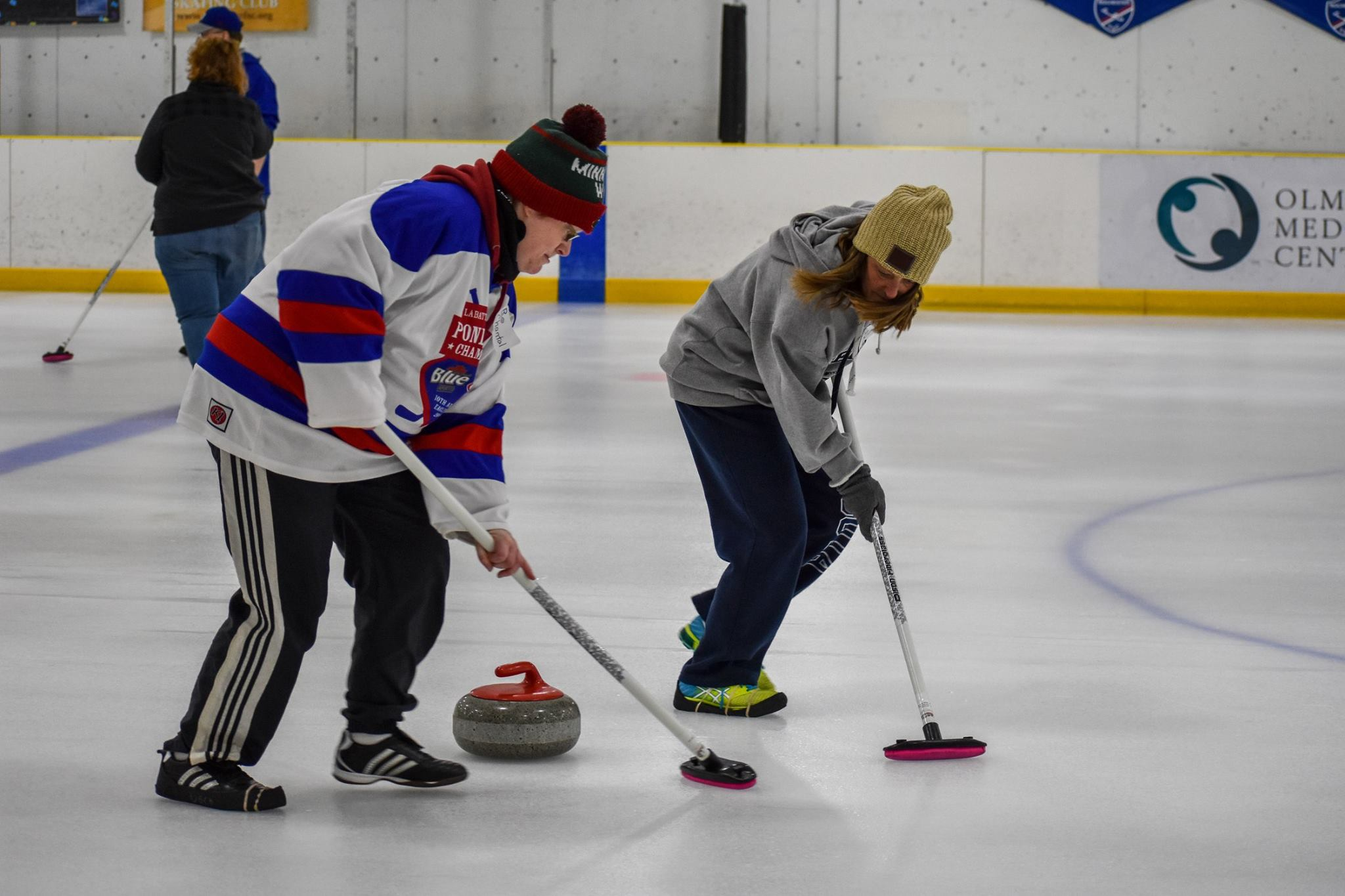 Corporate Curling - Does your organization want to participate in a unique team building activity that's completely new and different? If so, please contact us, and we can work with you to host a Corporate Curling event complete with instructors and equipment.