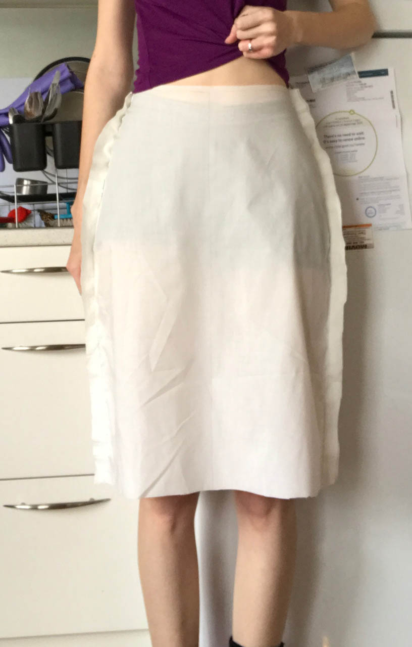 pencil skirt front as drafted
