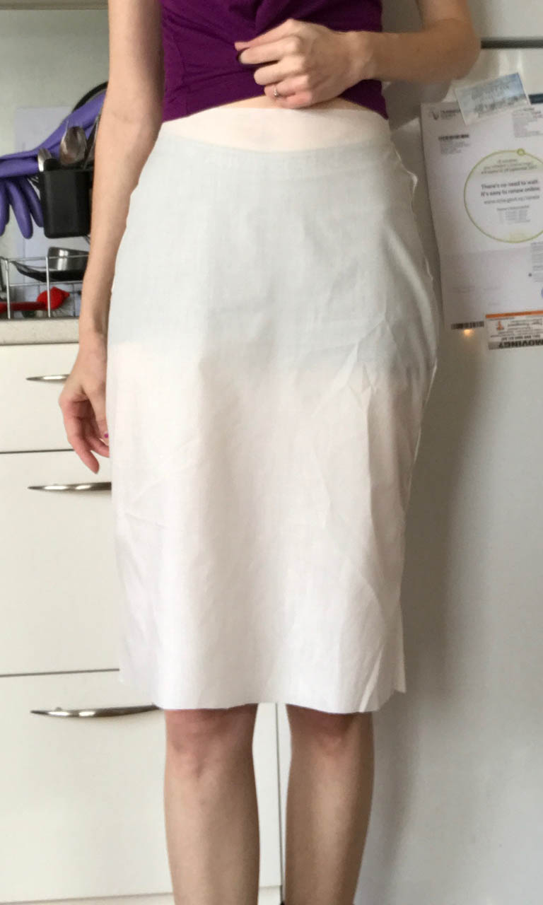 pencil skirt draft changes front