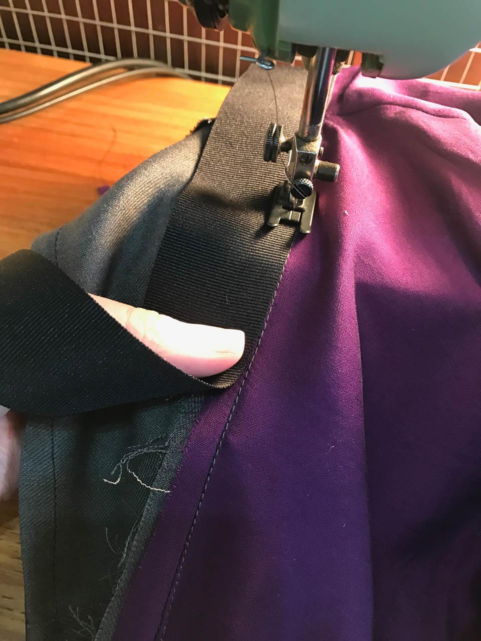 sewing enclosed petersham waistband