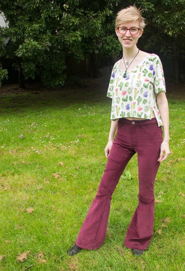 ginger high waisted corduroy flares