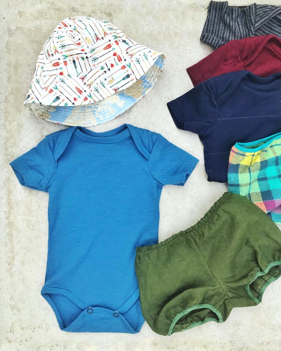 scrapbusting baby clothes