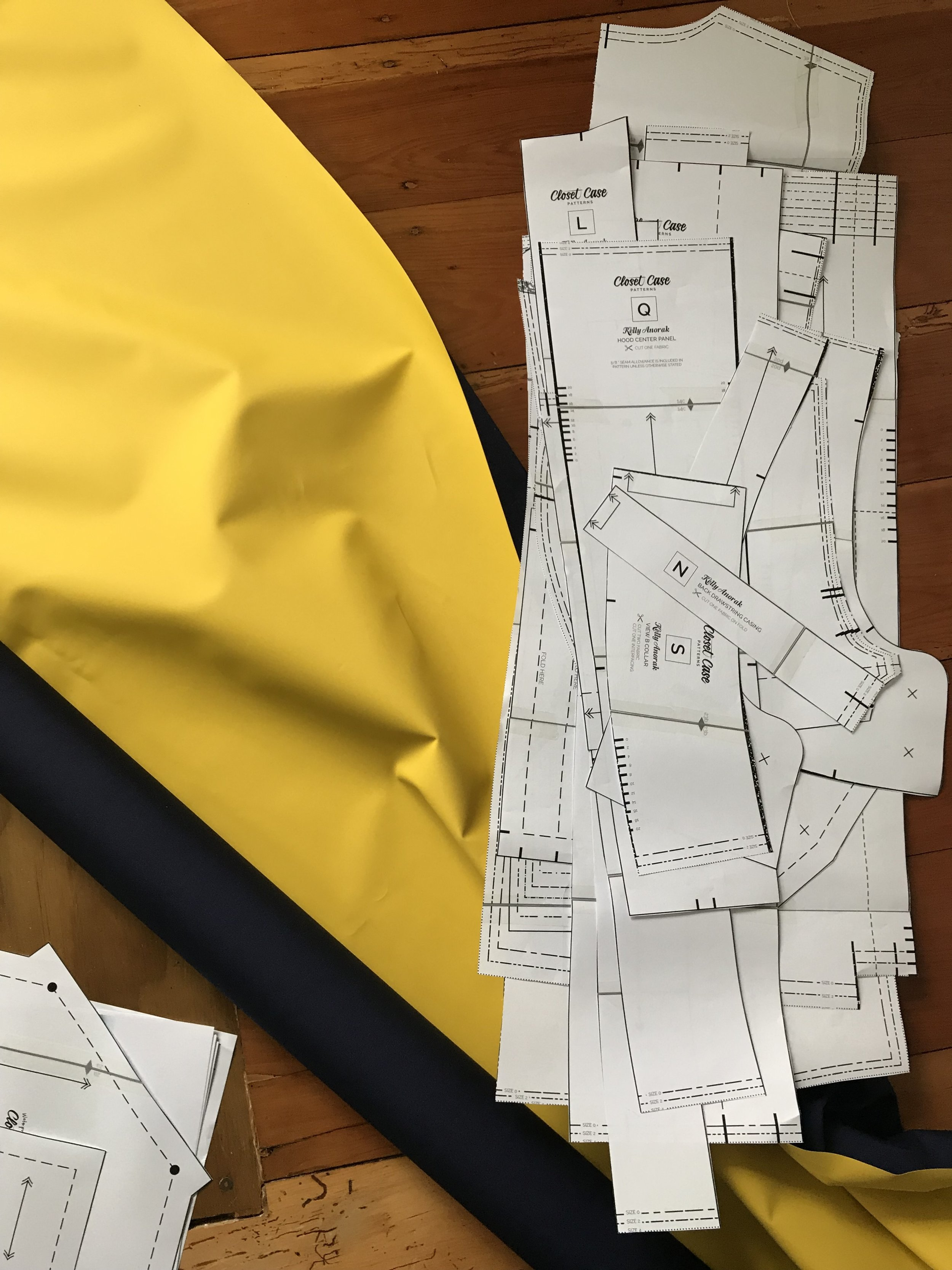 cutting out the kelly anorak