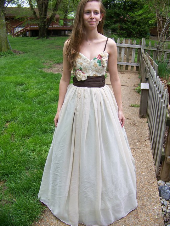 handmade beaded prom dress