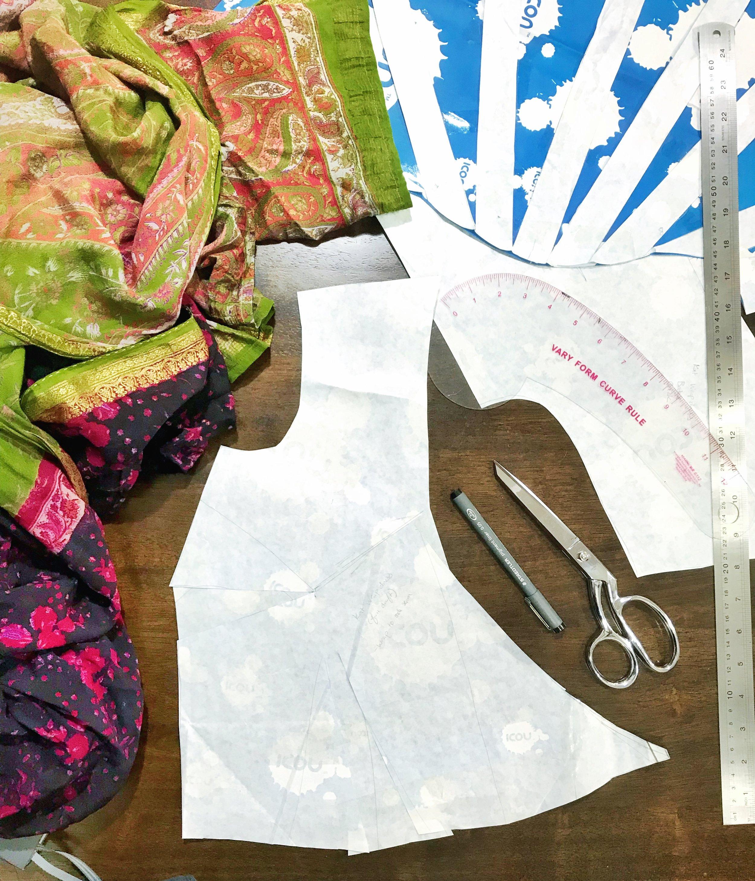 wrap dress bodice draft