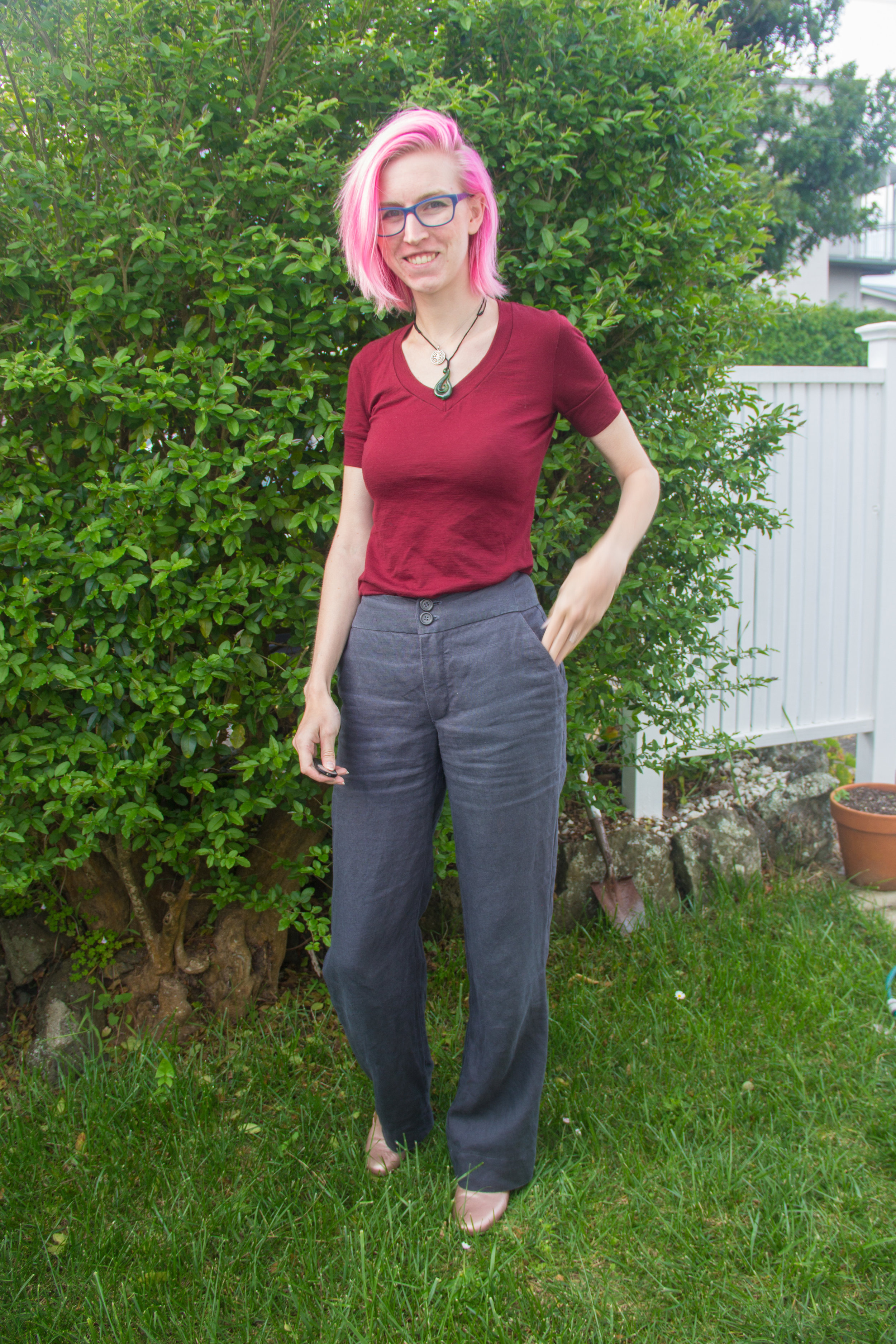 handmade wide legged linen pants