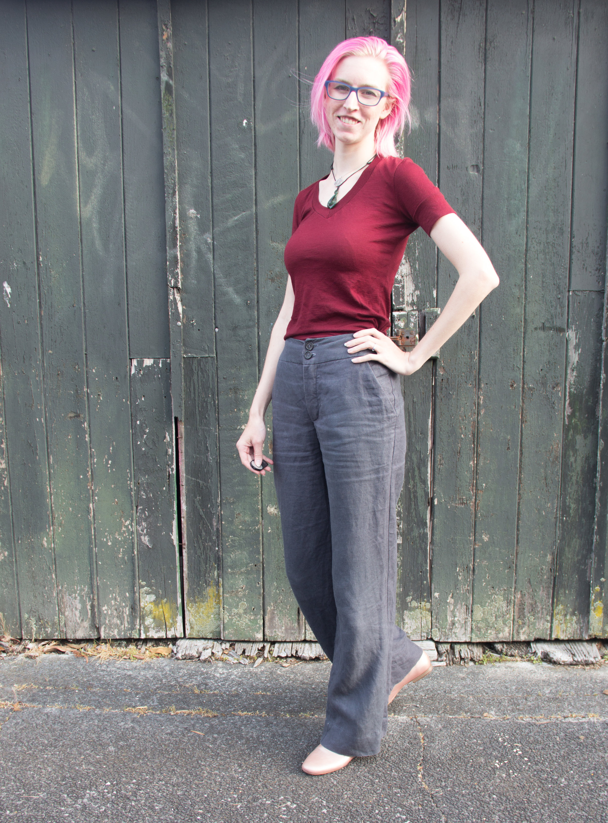 self drafted linen pants