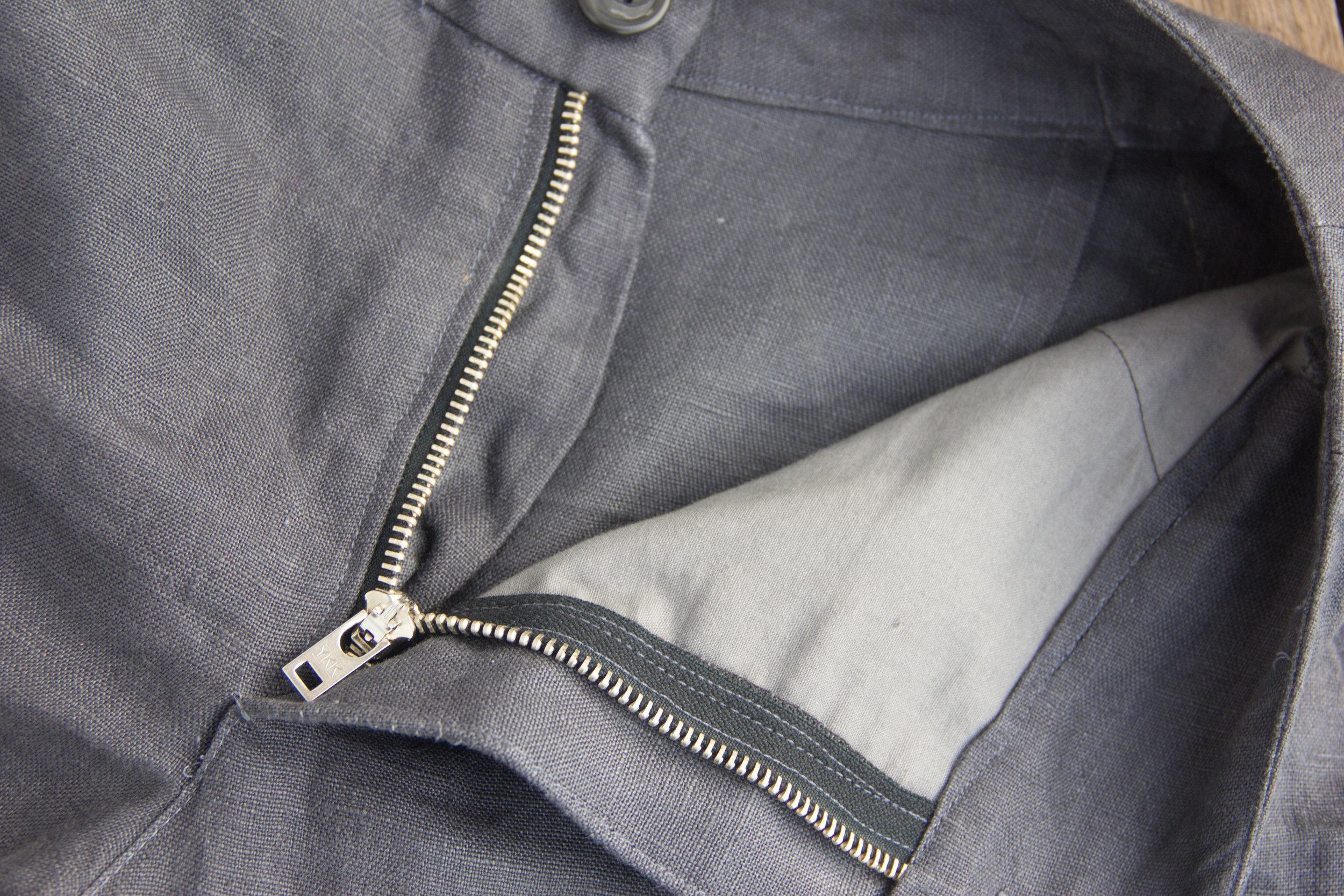 inside view of linen pants