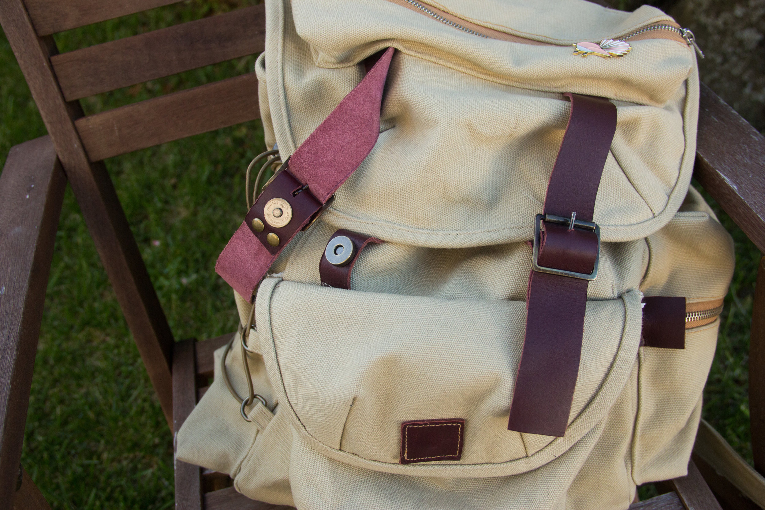 closure detail of urban outfitters copy backpack