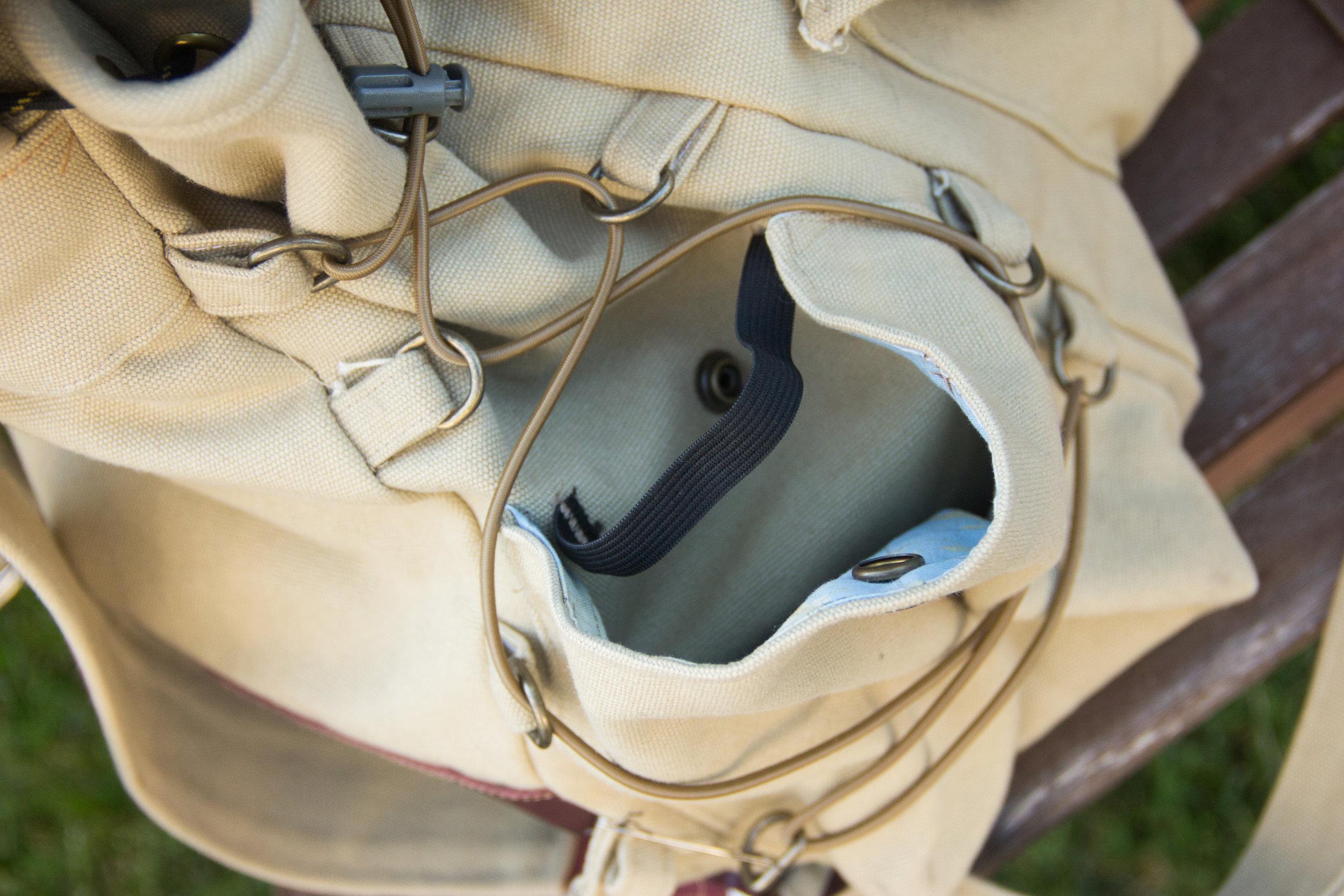 water bottle pocket for canvas bag