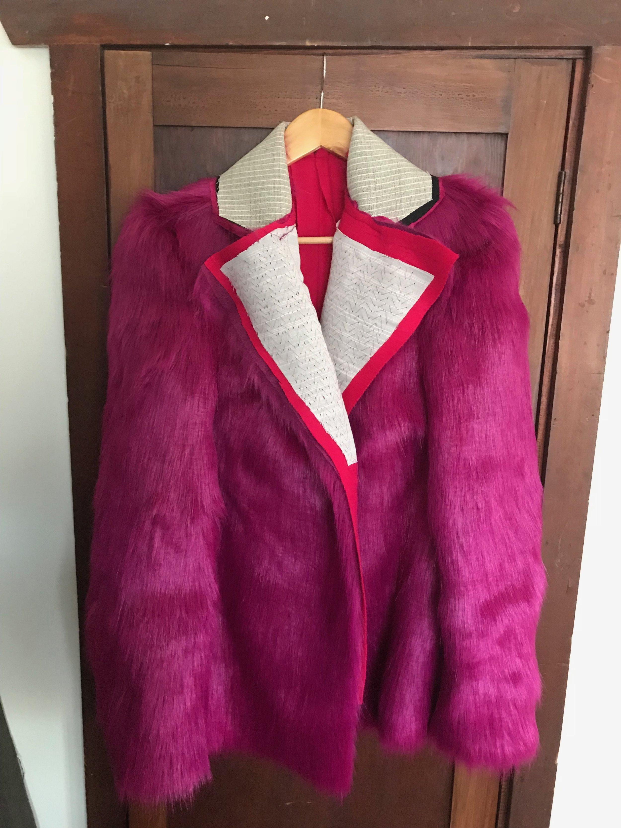 structure of fur coat