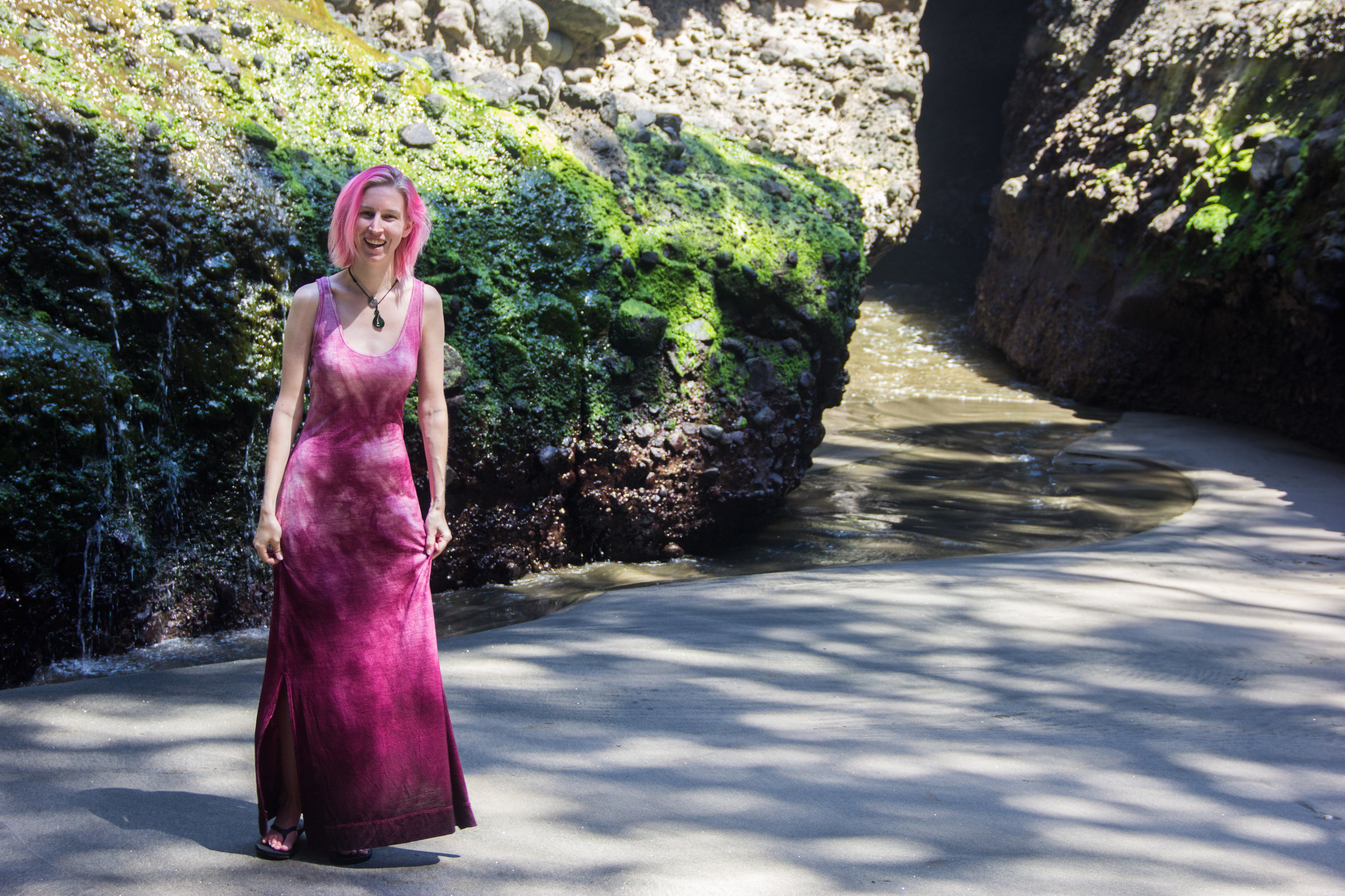 hand dyed merino maxi dress