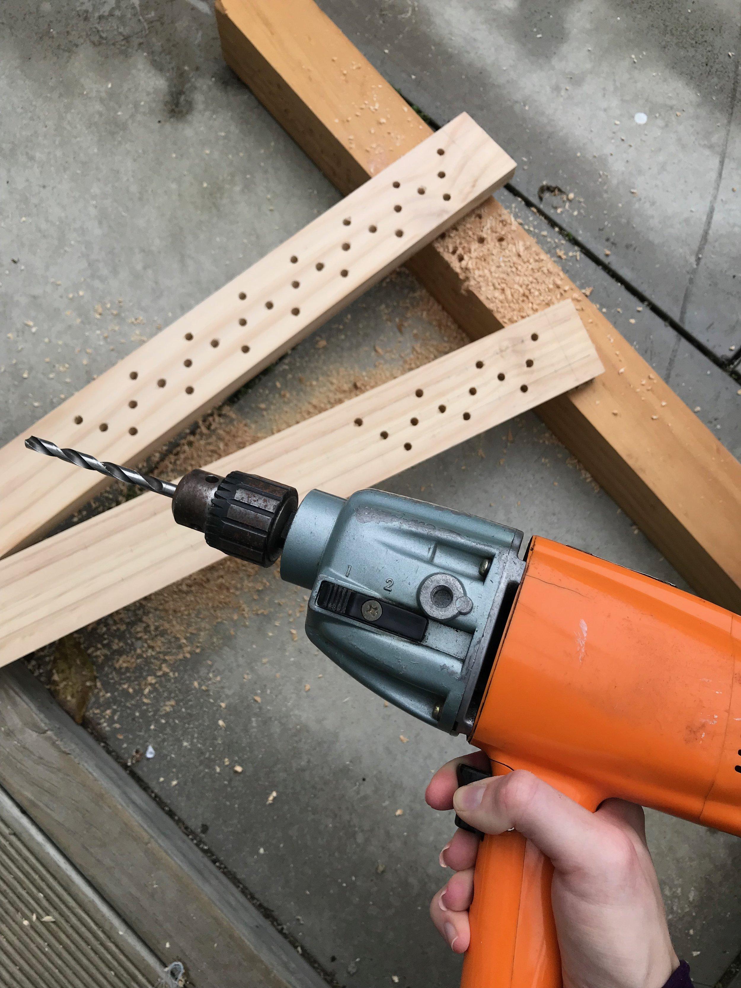 drilling holes for slate frame