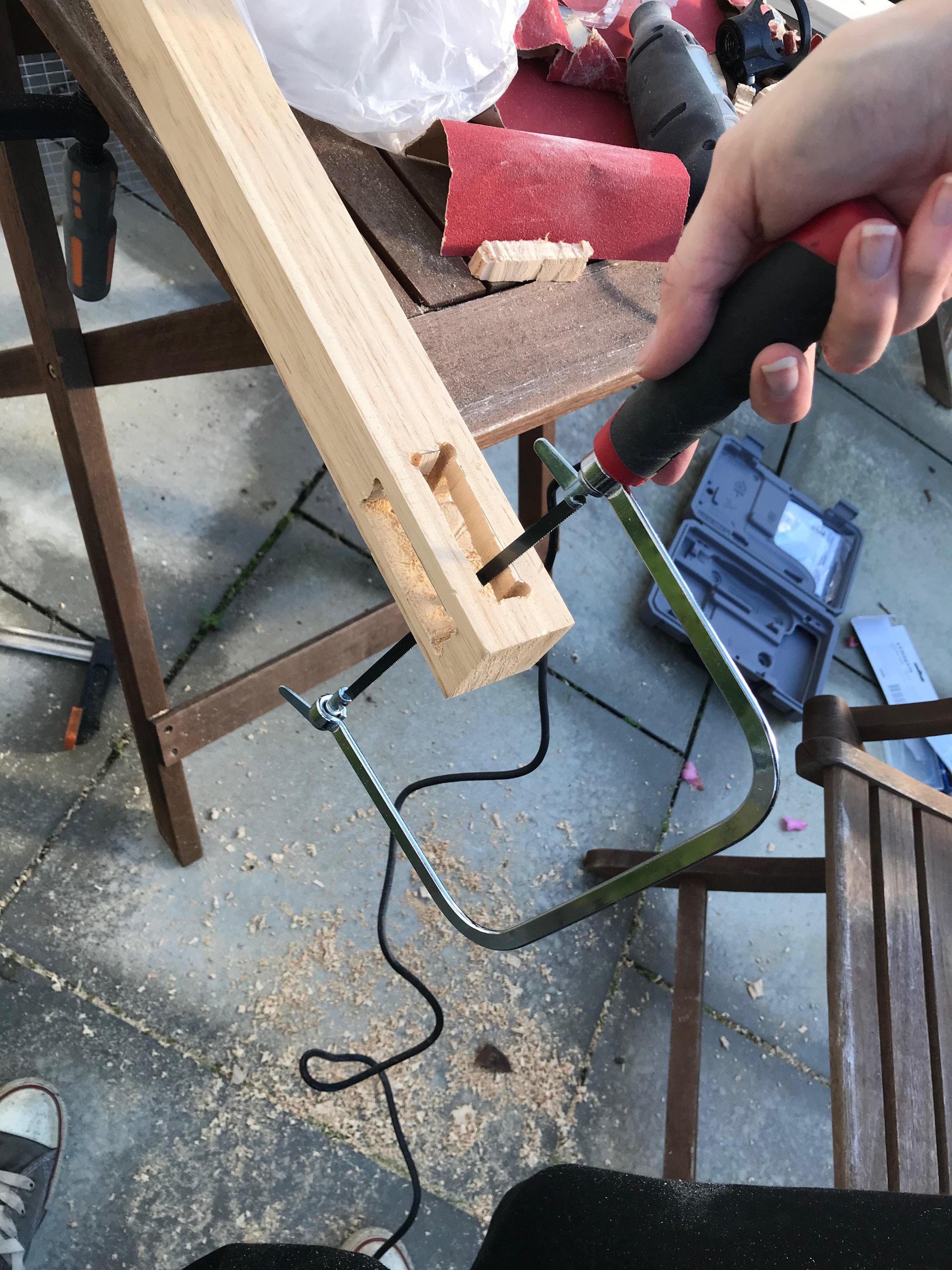 using a coping saw