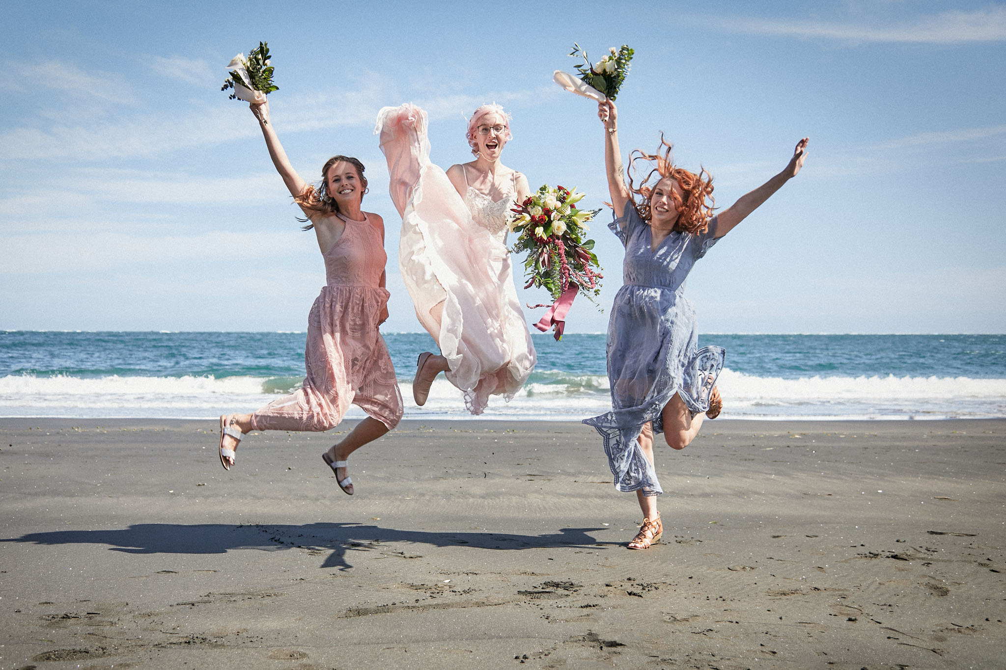 wedding dress jump photo