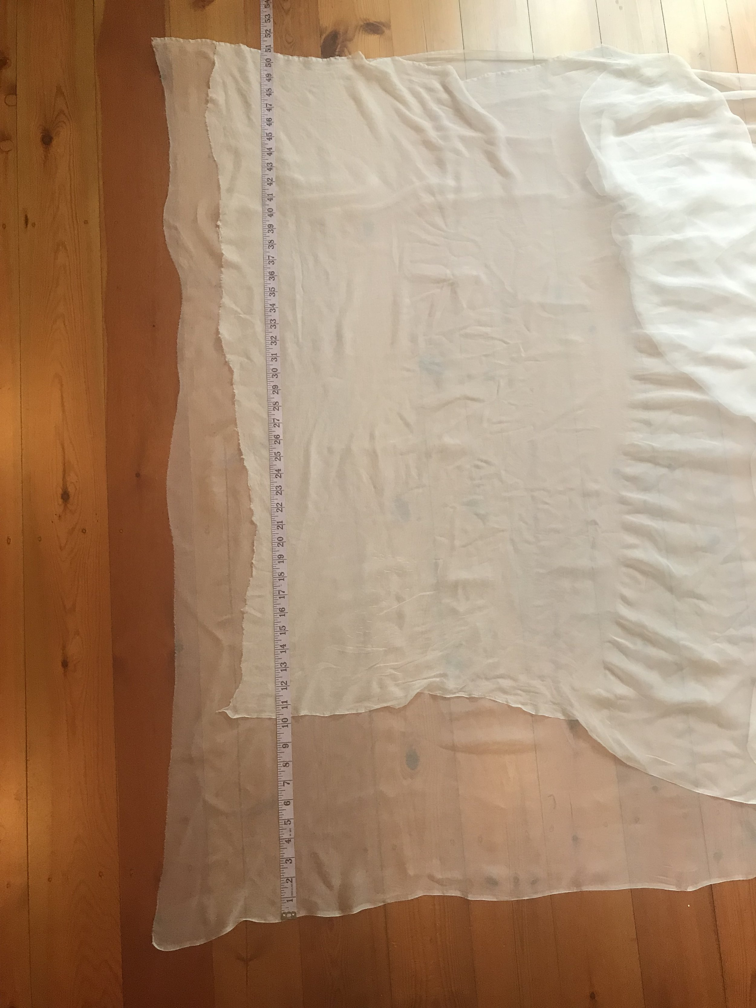 difference in pressed silk gauze