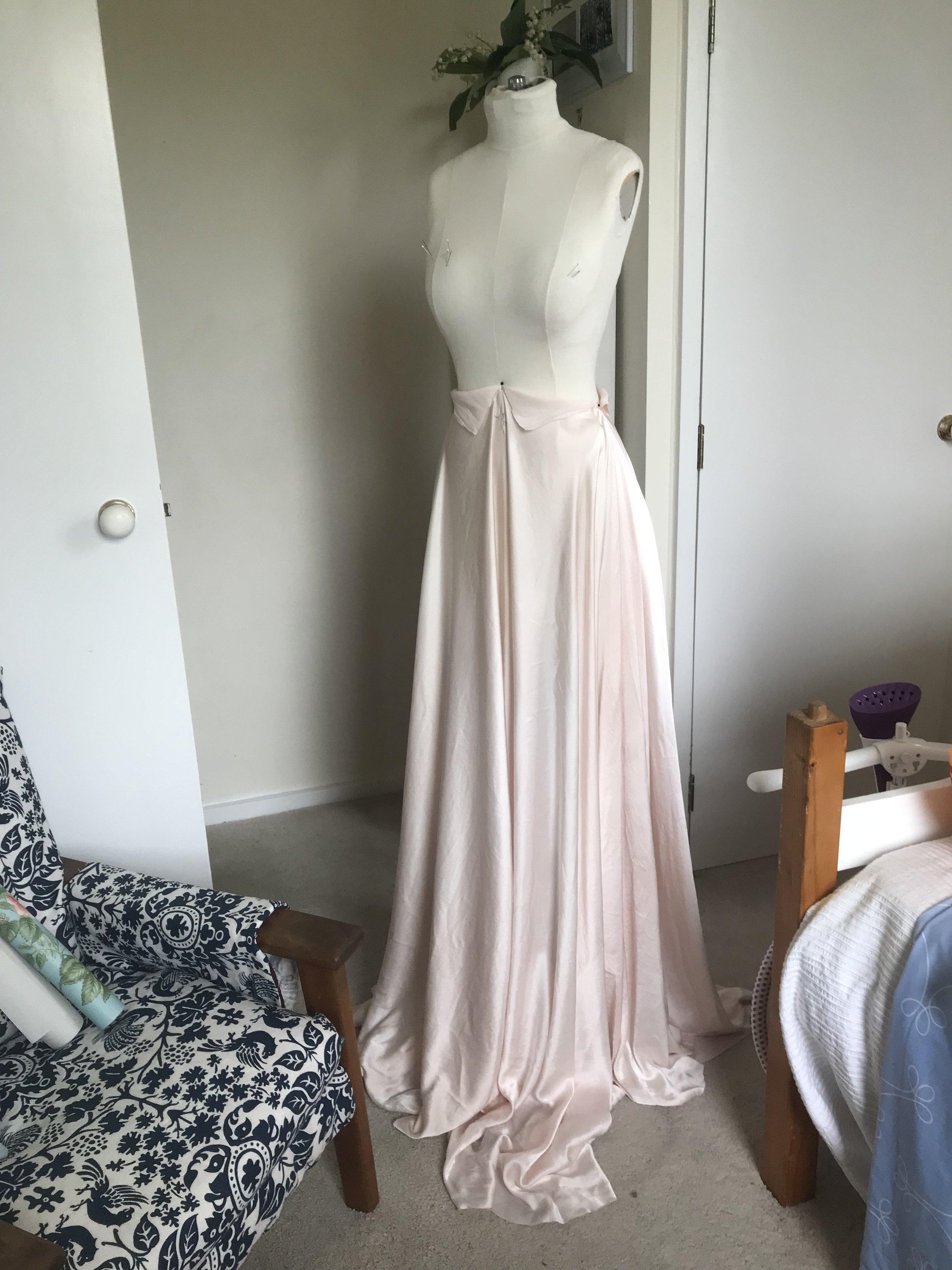 Skirt Layer 1: Silk Satin