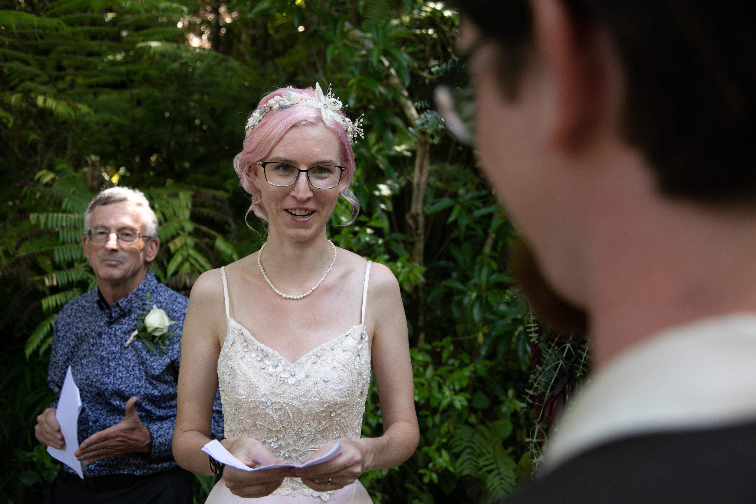 wedding ceremony hand sewn dress