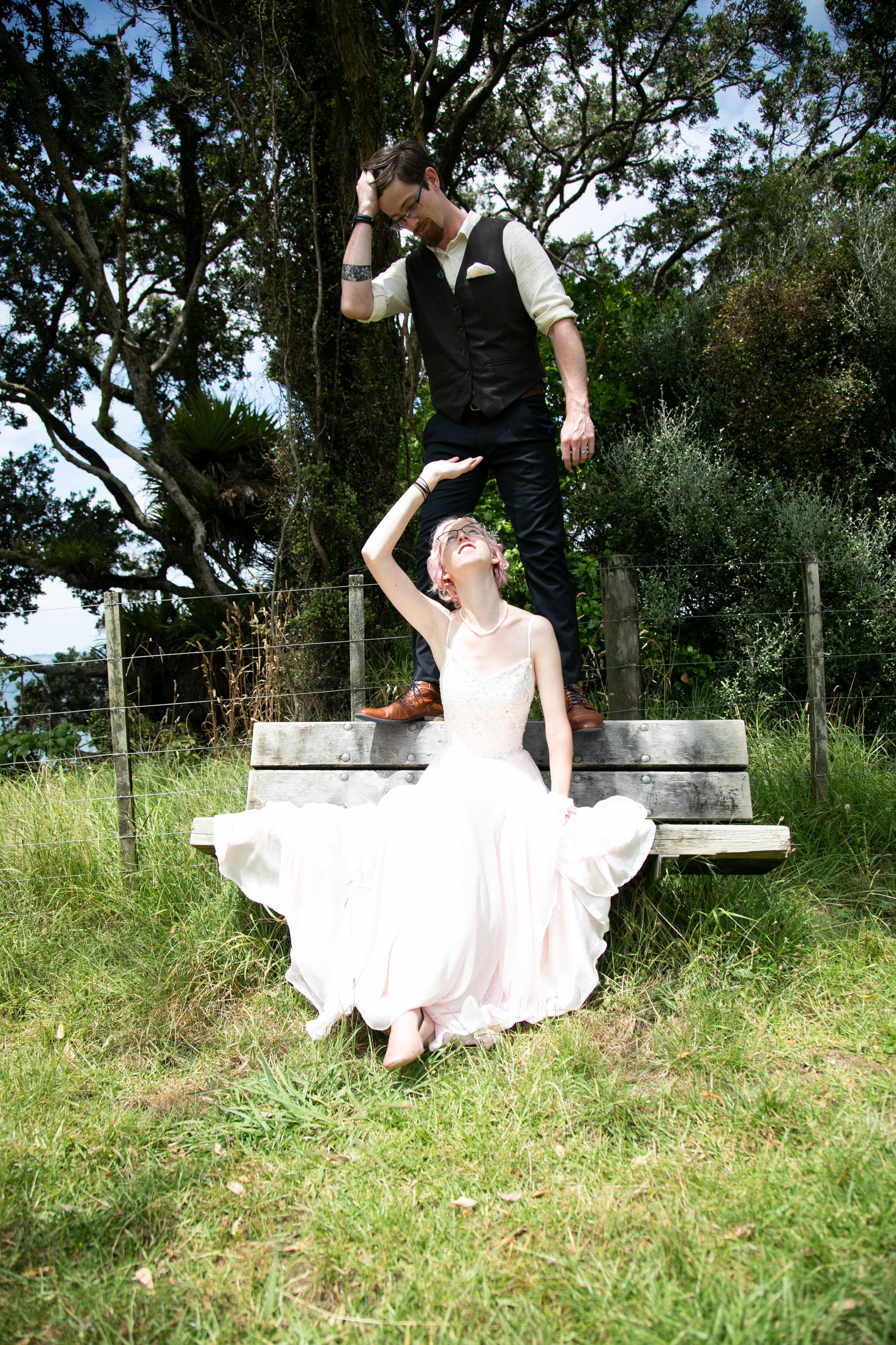 new zealand wedding handmade dress